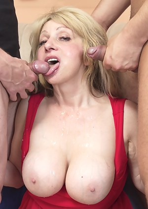 Big Boobs MMF Porn Pictures